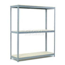 "Wide Span Rack 96""W x 48""D x 84""H With 3 Shelves Wood Deck 800 Lb Capacity Per Level"