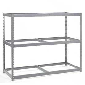 "Wide Span Rack 60""W x 24""D x 84""H With 3 Shelves No Deck 1200 Lb Capacity Per Level"