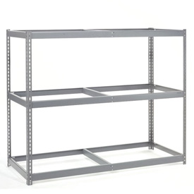 "Wide Span Rack 60""W x 48""D x 84""H With 3 Shelves No Deck 1200 Lb Capacity Per Level"