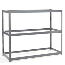 "Wide Span Rack 48""W x 24""D x 96""H With 3 Shelves No Deck 1200 Capacity Per Level"