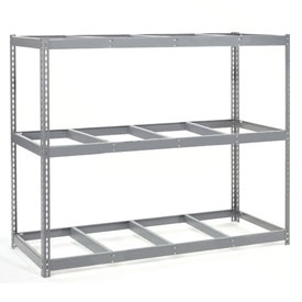 "Wide Span Rack 96""W x 36""D x 96""H With 3 Shelves No Deck 1100 Lb Capacity Per Level"