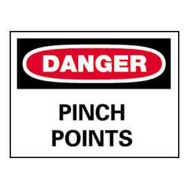 Signs With Safety Message Legend-Danger Pinch Points