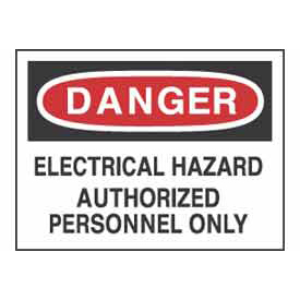 Signs With Safety Message Legend-Danger Electrical Hazard