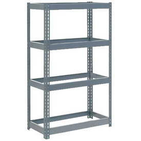 "Extra Heavy Duty Shelving 36""W x 18""D x 60""H With 4 Shelves, No Deck"