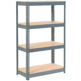 "Extra Heavy Duty Shelving 36""W x 12""D x 60""H With 4 Shelves, Wood Deck"
