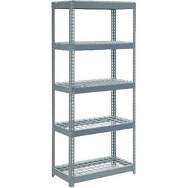 "Extra Heavy Duty Shelving 36""W x 12""D x 96""H With 5 Shelves, Wire Deck"