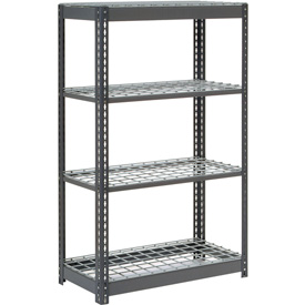 "Heavy Duty Shelving 36""W x 12""D x 60""H With 4 Shelves, Wire Deck"