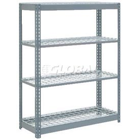 "Heavy Duty Shelving 48""W x 24""D x 60""H With 4 Shelves, Wire Deck"