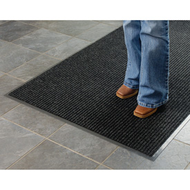 Deep Cleaning Ribbed Entrance Mat 4x8 Charcoal Gray