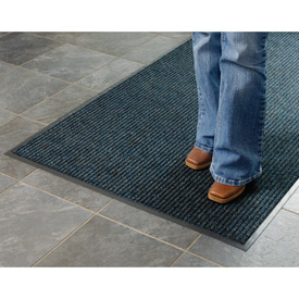 Deep Cleaning Ribbed Entrance Mat 3x10 Blue
