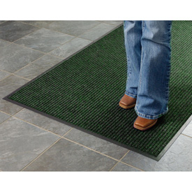 Deep Cleaning Ribbed 4 Foot Wide Roll Entrance Mat Green