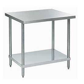 """Aero Manufacturing A2448 48""""W x 24""""D 18 Gauge Stainless Steel Workbench"""