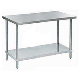 "Aero Manufacturing A2496 96""W x 24""D 18 Gauge Stainless Steel Workbench"