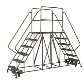"6 Step Steel Double Entry Mobile Platform - 48""L x 24""W - WLDS162447"