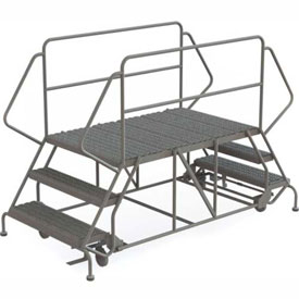 "3 Step Steel Double Entry Mobile Platform - 88""L x 40""W - WLDS133657"