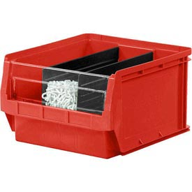 Quantum Magnum Plastic Stackable Storage Bin QMS532 12-3/8 x 19-3/4 x 7-7/8 Red