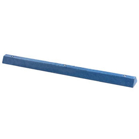 "Blue Parking Curb With Hardware 72""L x 4""H x 6""W"