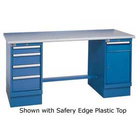 60 x 30 Maple Safety Edge 4 Drawer & Cabinet Workbench