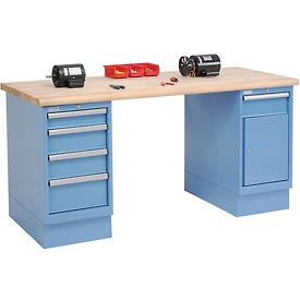 72 x 30 Maple Safety Edge 4 Drawer & Cabinet Workbench