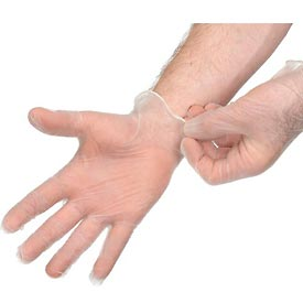 Disposable Vinyl Gloves - Powder-Free, X-Large, Clear, 100/Box