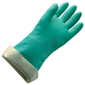 Flock Lined X-Large Nitrile Gloves - 18 Mil Size 10, 1 Pair