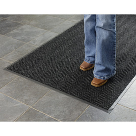 Chevron Ribbed  Mat 2x3 Charcoal