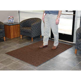 Chevron Ribbed  Mat 3 Foot Wide  Brown