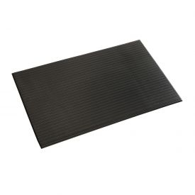 Ribbed Surface Mat 5/8 Thick 2 Foot Wide Black