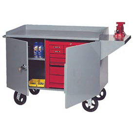 Mobile Heavy Duty Service Bench - 2000 Lb. Capacity