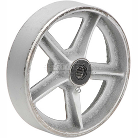 "8"" x 2"" Semi-Steel Wheel - Axle Size 1/2"""