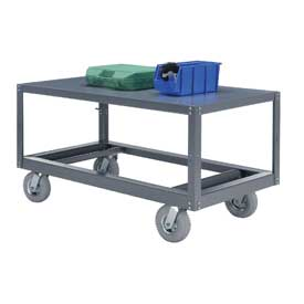 Portable Steel Table 1 Shelf 36x24 1200 Lb. Capacity Unassembled