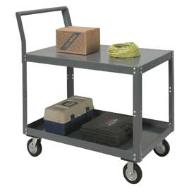 Two Shelf Unassembled Heavy Duty Service Cart 48 x 30 1200 Lb. Capacity