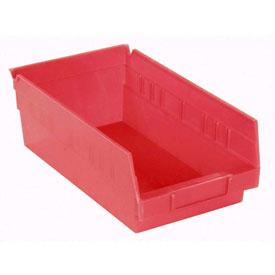 "Akro-Mils Plastic Shelf Bin Nestable 30150 - 8-3/8""W x 11-5/8""D x 4""H Red"