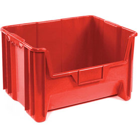 "Heavy Duty QGH700 Plastic Hopper Bin 19-7/8""W x 15-1/4""D x 12-7/16""H Red - Pkg Qty 3"