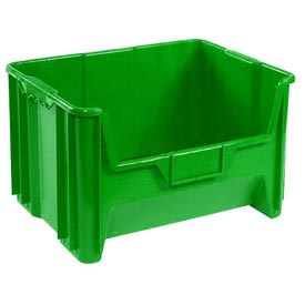 Heavy Duty Plastic Hopper Bin - Green - Price Each, Sold Pkg Qty 3 - Pkg Qty 3