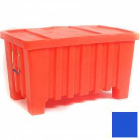 "Myton Forkliftable Bulk Shipping Container MTW-2 with Lid - 43""L x 26-1/2""W x 24""H, Blue"