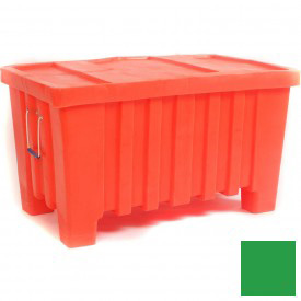 "Myton Forkliftable Bulk Shipping Container MTW-2 with Lid - 43""L x 26-1/2""W x 24""H, Green"