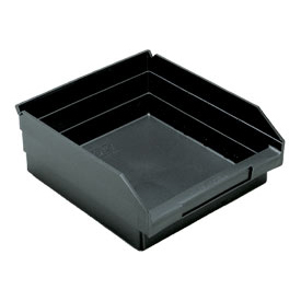 "Quantum Recycled Shelf Bin QSB109BR Nestable, 11-1/8""W x 11-5/8""D x 4""H - Pkg Qty 8"