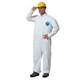 Tyvek® Disposable Coverall with Open Ended Wrists/Ankles, M, Case Of 25