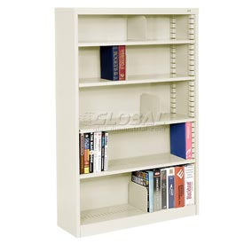 "Quick Adjust Steel Bookcase - 60""H Putty"