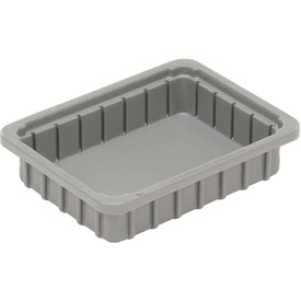 "Dandux Dividable Stackable Plastic Box 50P0110024 -  11""L x 8""W x 2-1/2""H, Gray"