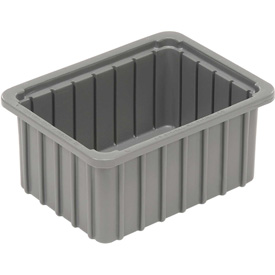"Dandux Dividable Stackable Plastic Box 50P0110050 -  11""L x 8""W x 5""H, Gray"
