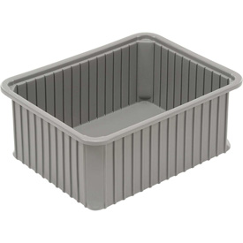 "Dandux Dividable Stackable Plastic Box 50P0114120 -  22-1/2""L x 17-1/2""W x 12""H, Gray"