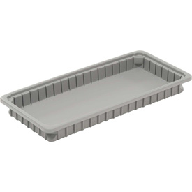 "Dandux Dividable Stackable Plastic Box 50P0224024 -  24""L x 11""W x 2-1/2""H, Gray"