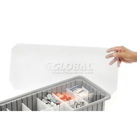 "Dandux Insert Cover 50B0224LI for Dividable Grid Stackable Box, 24""L x 11""W, Clear"