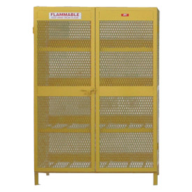 "Global&#8482 Cylinder Storage Cabinet - Horizontal Double Door 12 Cylinders - 50""W x 40""D x 71""H"