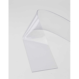 "Replacement 12"" x 8' Standard Clear Strip for Strip Curtain Doors"