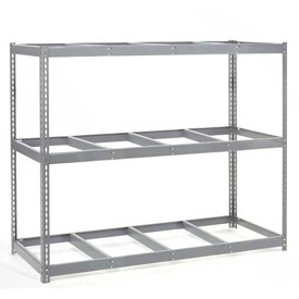 "Wide Span Rack 96""W x 48""D x 96""H With 3 Shelves No Deck 1100 Lb Capacity Per Level"