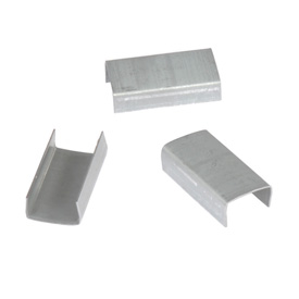 "Open Steel Strapping Seals, For Use With 1/2"" W Steel Strapping Tools - 2,500 Pack"