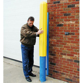 "Eagle Ribbed Bollard Post Sleeve 8"" Yellow, 1738-YL"